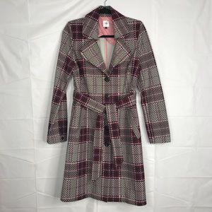 CABi Sovereign houndstooth /chevron Trench Coat